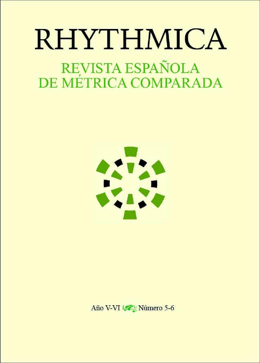 Calaméo Rhythmica N º 5 6 Revista Española De Métrica