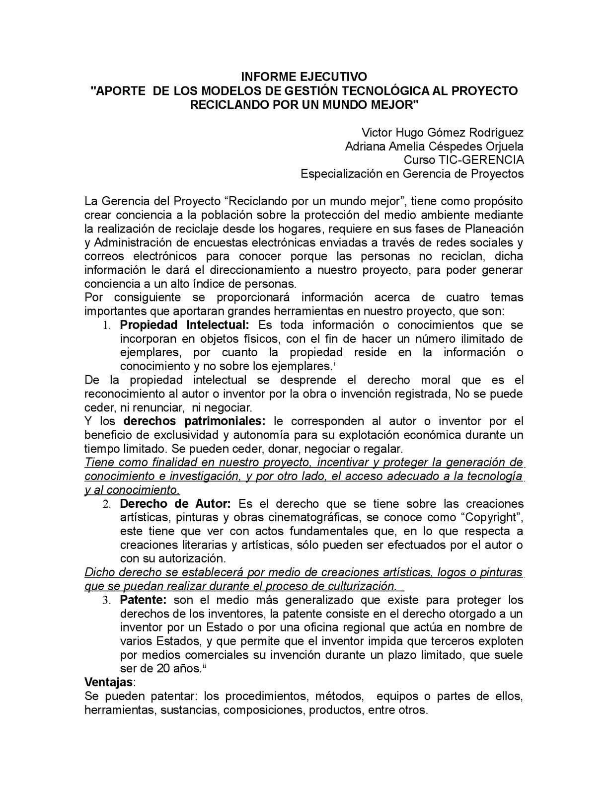 Calaméo Informe Ejecutivo Modelos De Gestión Tecnológicadocx