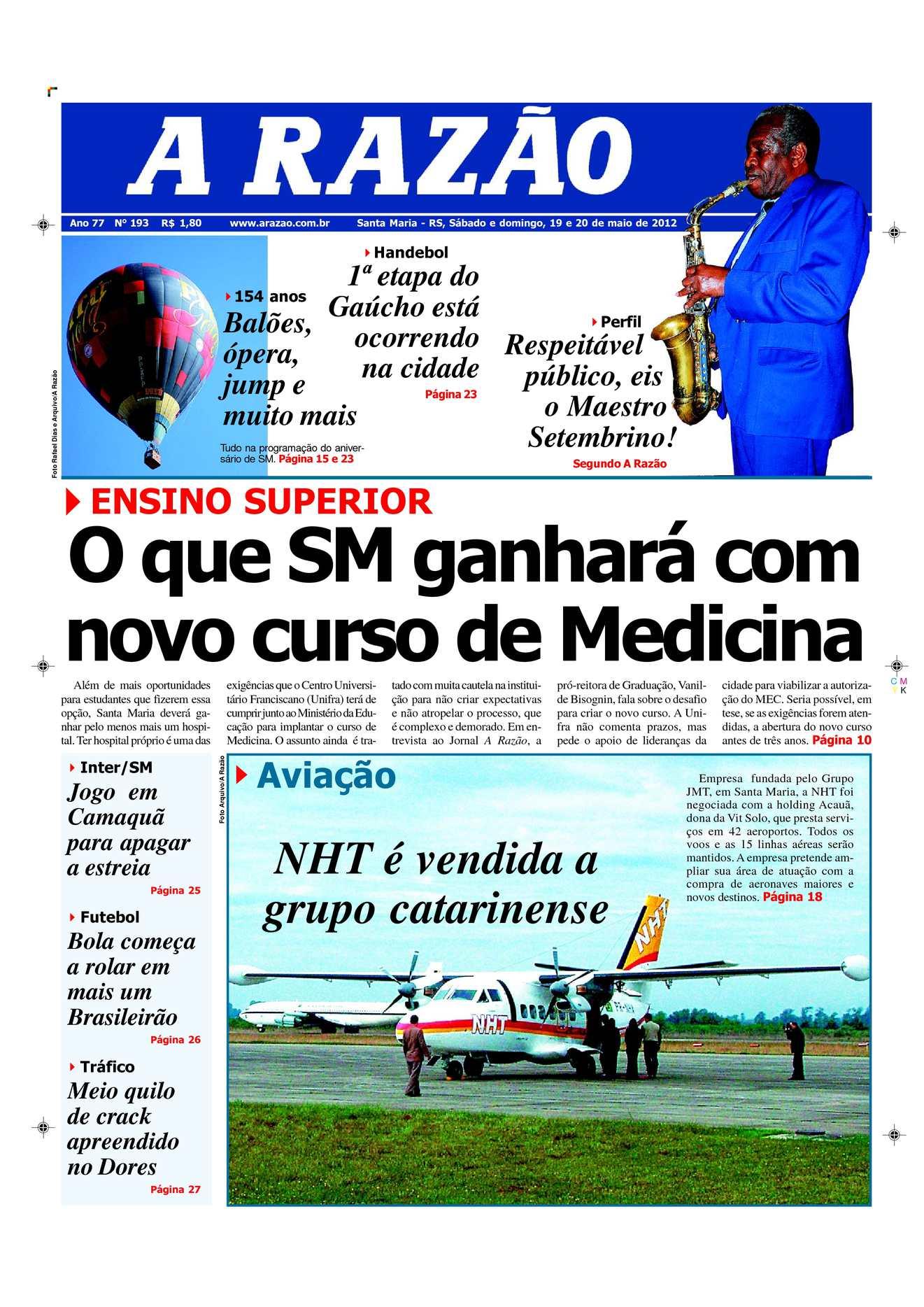 5d781744d4a35 Calaméo - Jornal A Razão Santa Maria - 19052012
