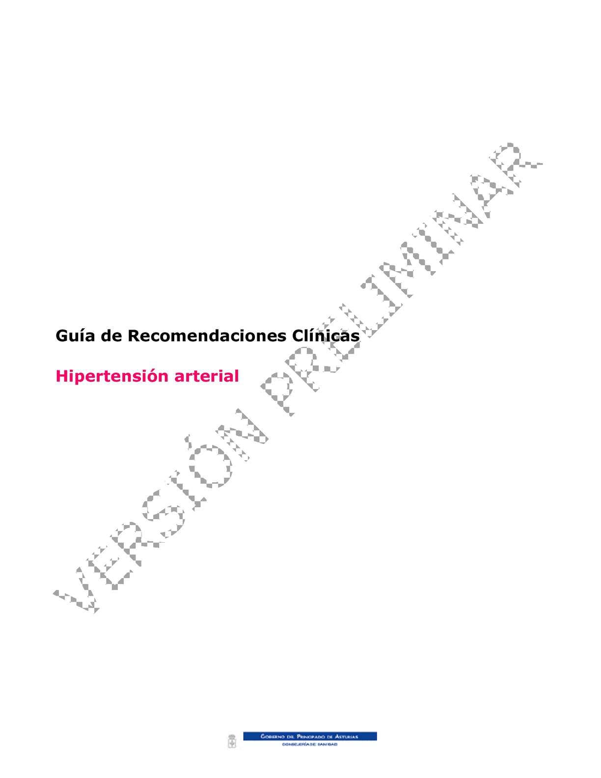 Disminución de las pautas de hipertensión gfr
