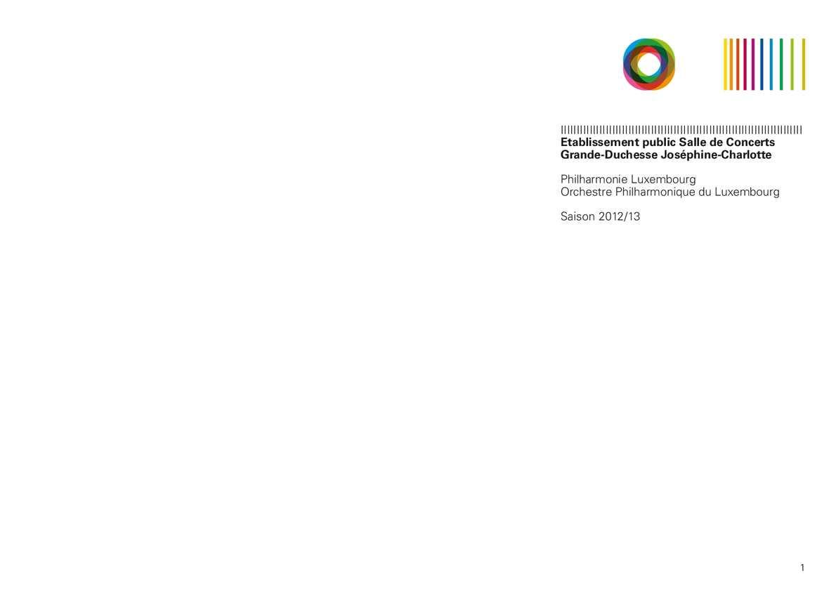 Calameo Philharmonie Luxembourg Saisonbroschure 2012 13