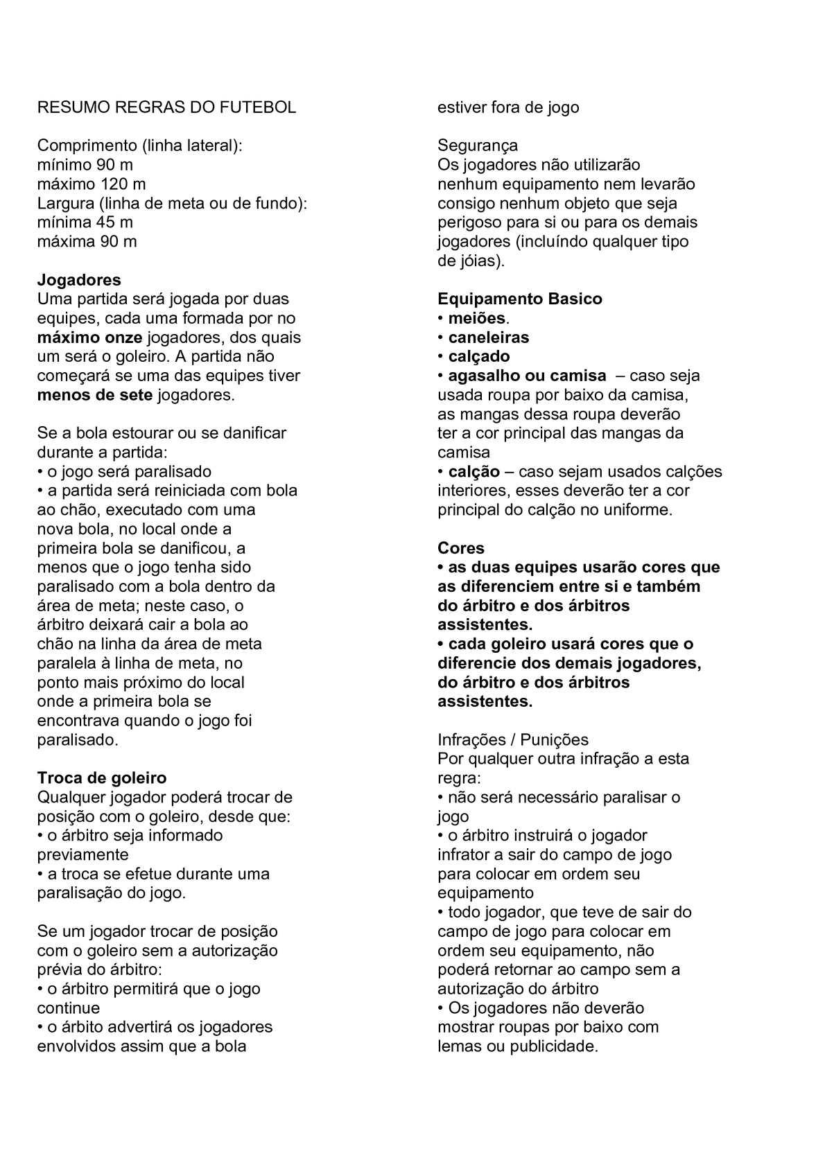 2db449fa409f5 Calaméo - Resumo Das Regras Do Futebol de Campo 2010