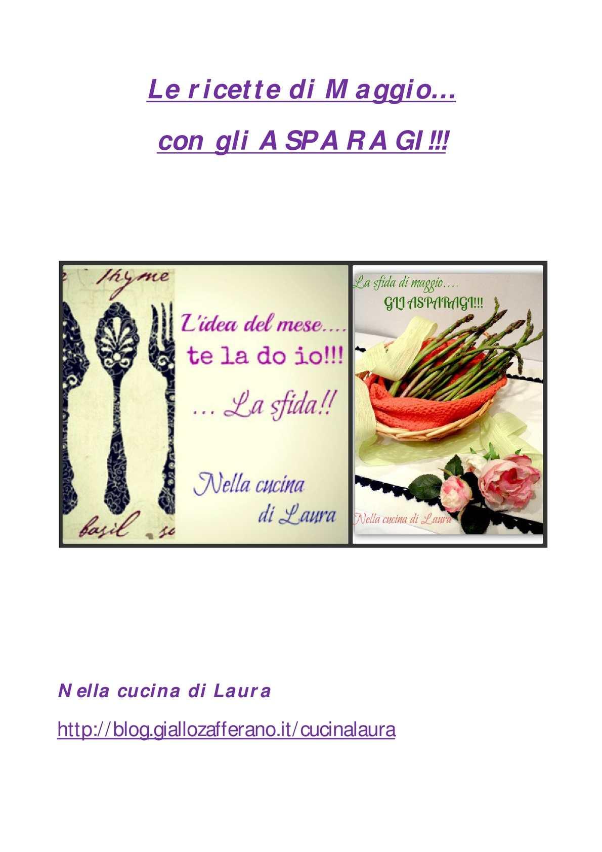 Calaméo Le Ricette Di Maggio Gli Asparagi