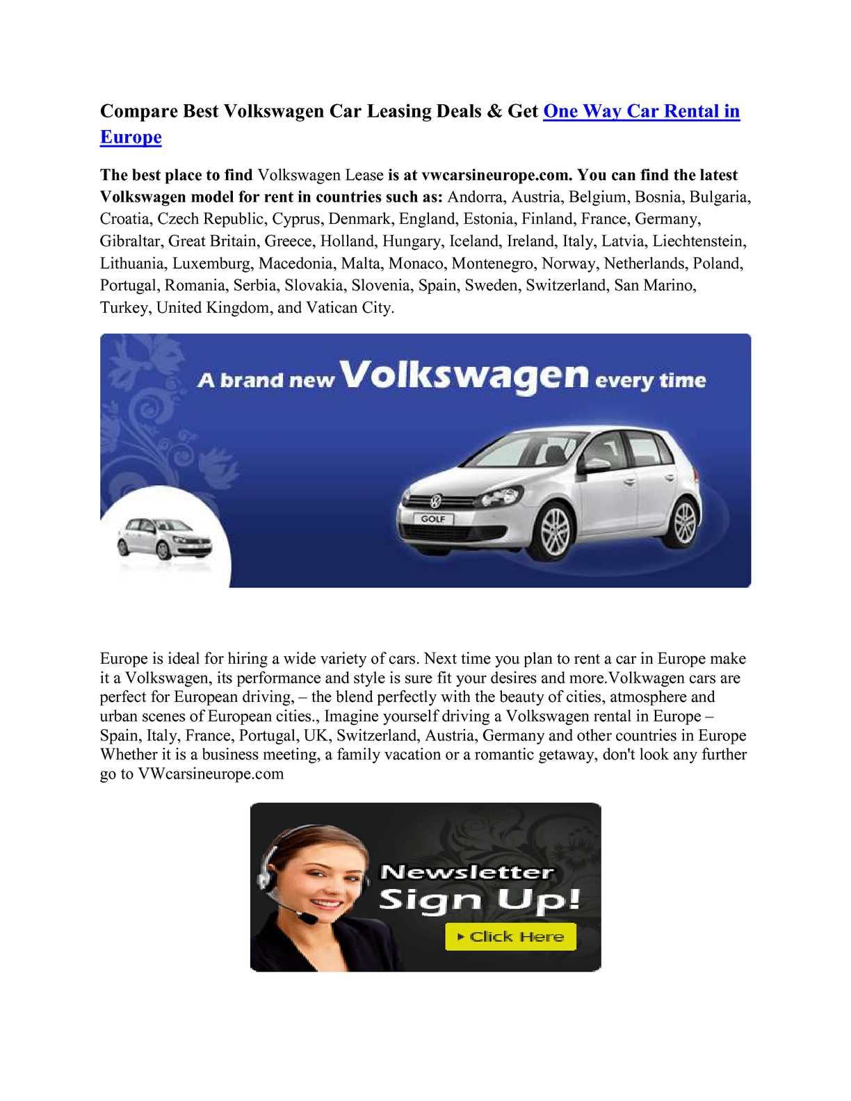 88a80e0af4 Calaméo - Compare Best Volkswagen Car Leasing Deals   Get One Way Car Rental  in Europe