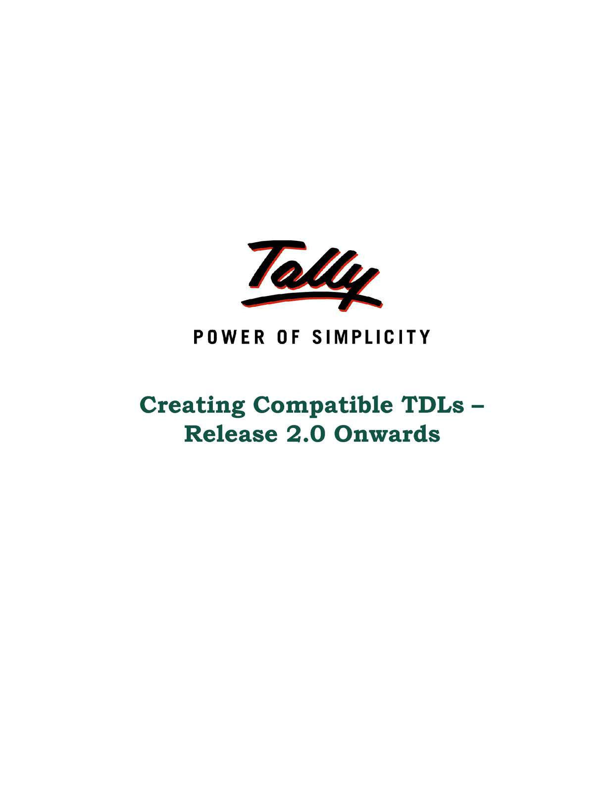 Calaméo - Creating Compatible TDLs Release 2_0 onwards | College