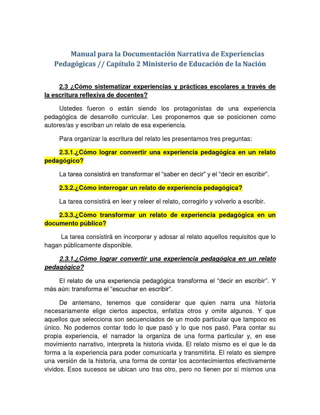 Cap. 2 Manual Memoria Pedagógica