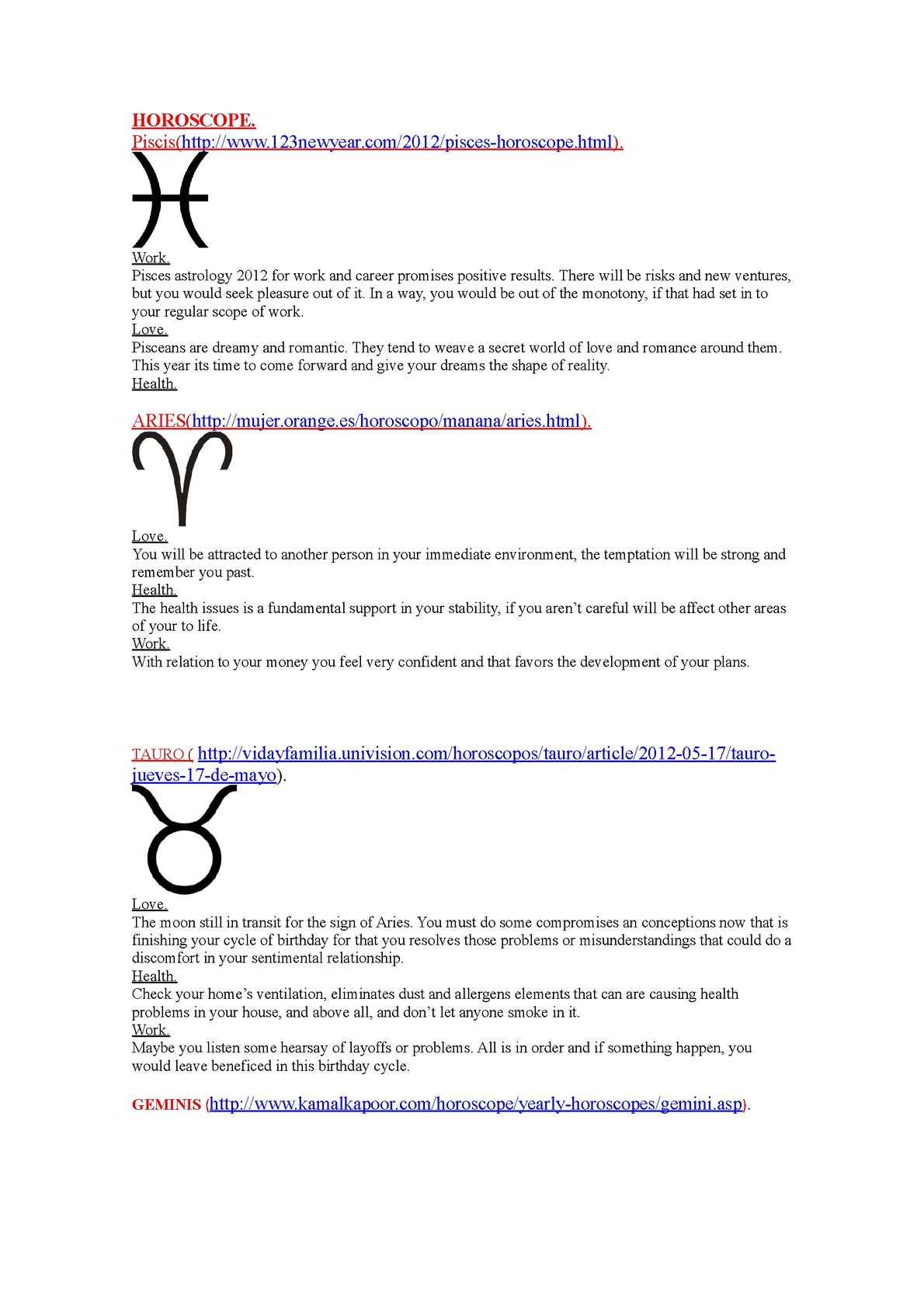piscess horoscope in univision