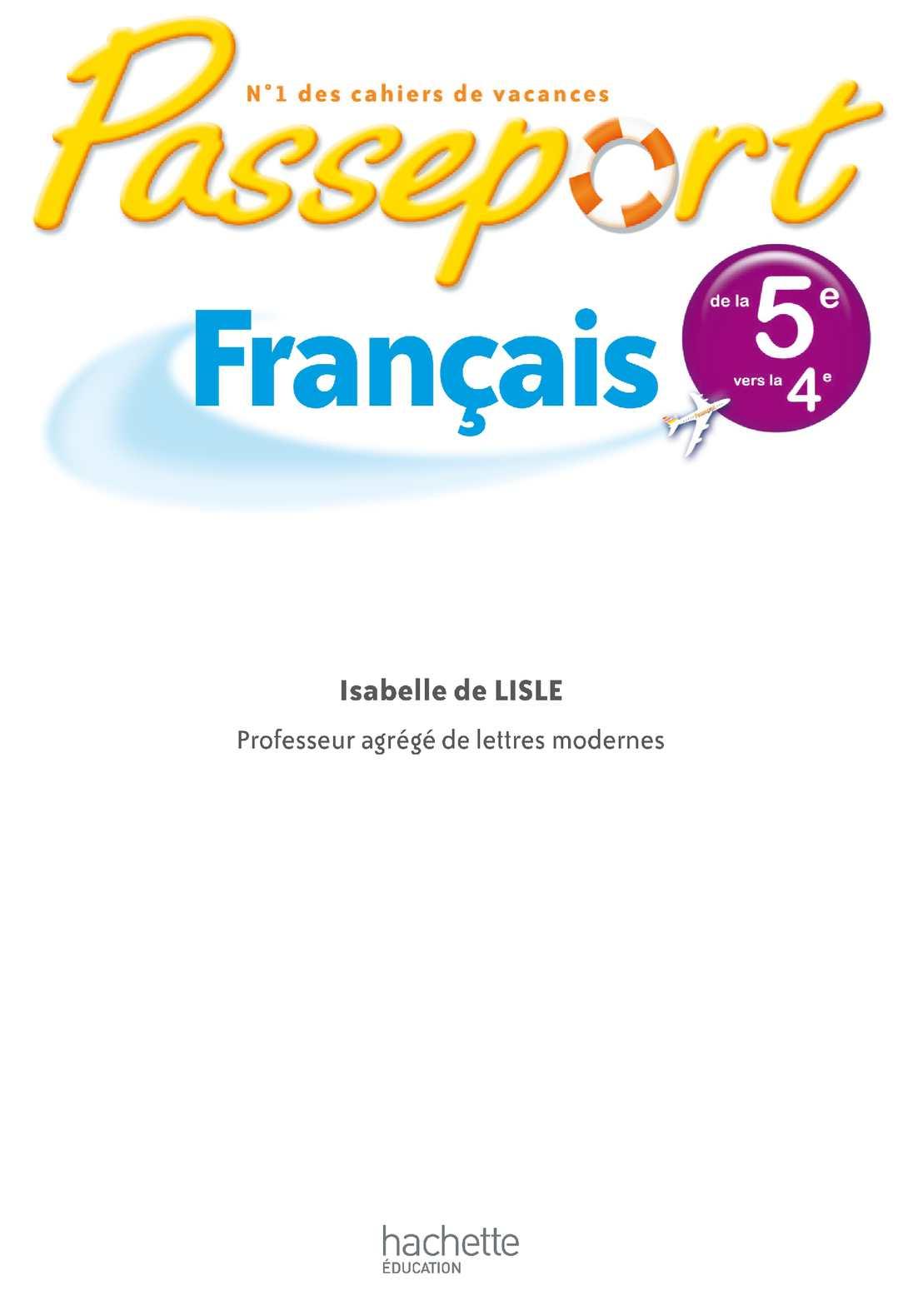 Passeport Français 5e