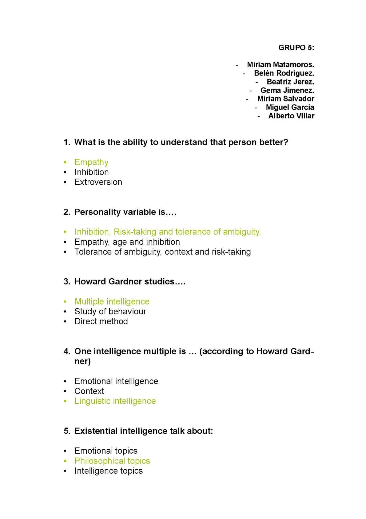 Calaméo - Individual Characteristics Test