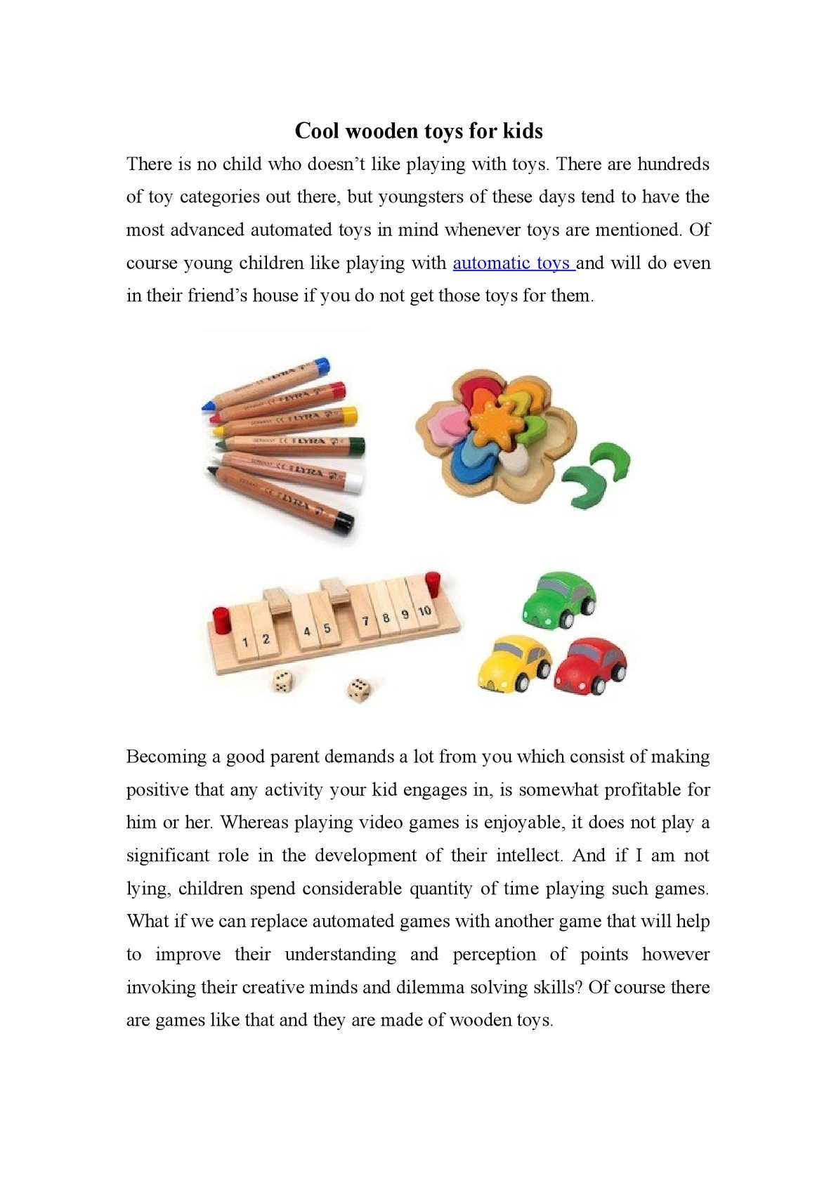 Calaméo Cool Wooden Toys For Kids
