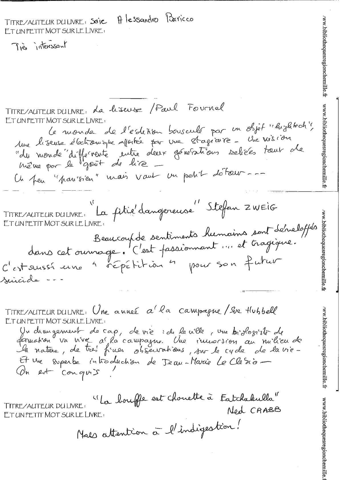 Calameo Avis De Lectures Machine A Livres