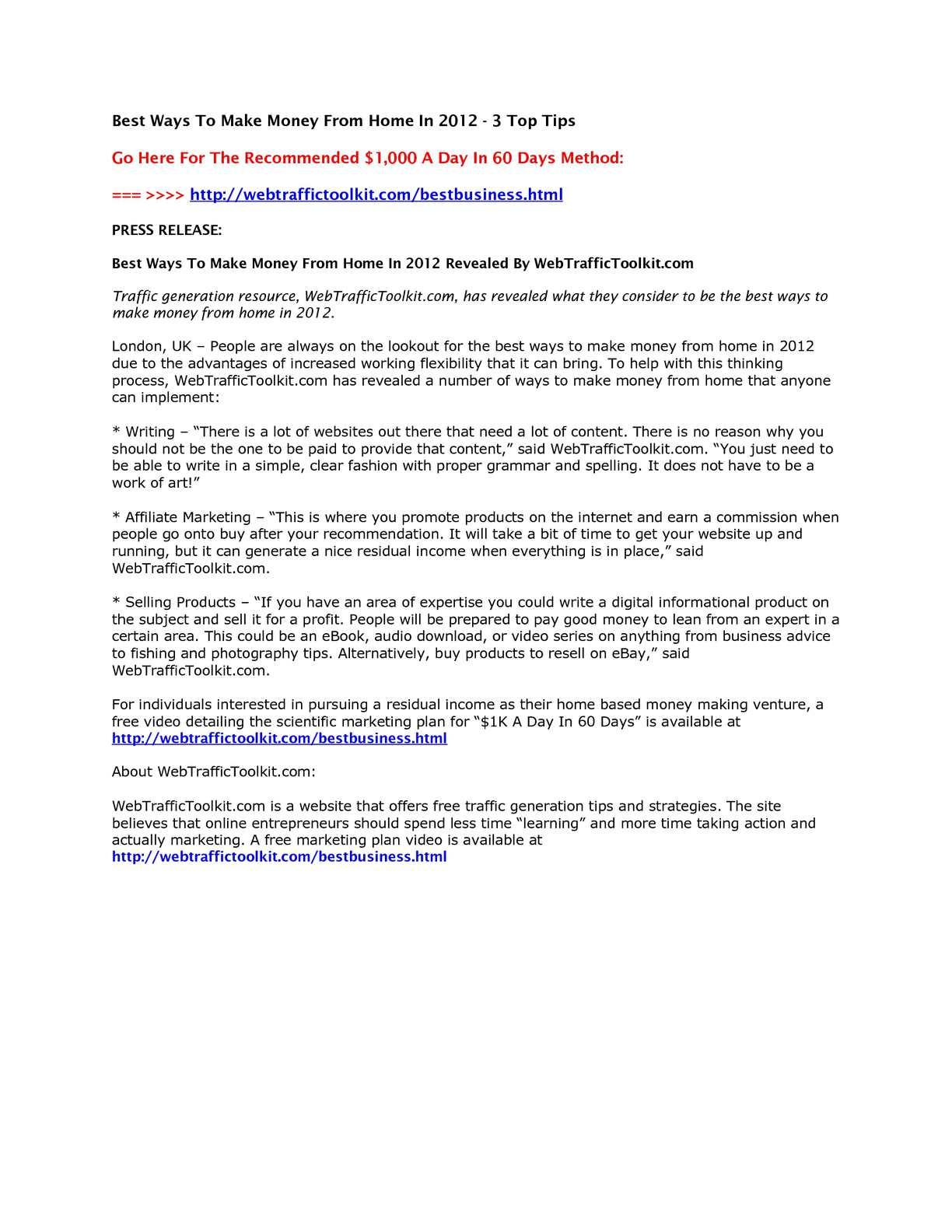 Best Ways To Make Money Online 2012 How To Make Money Online