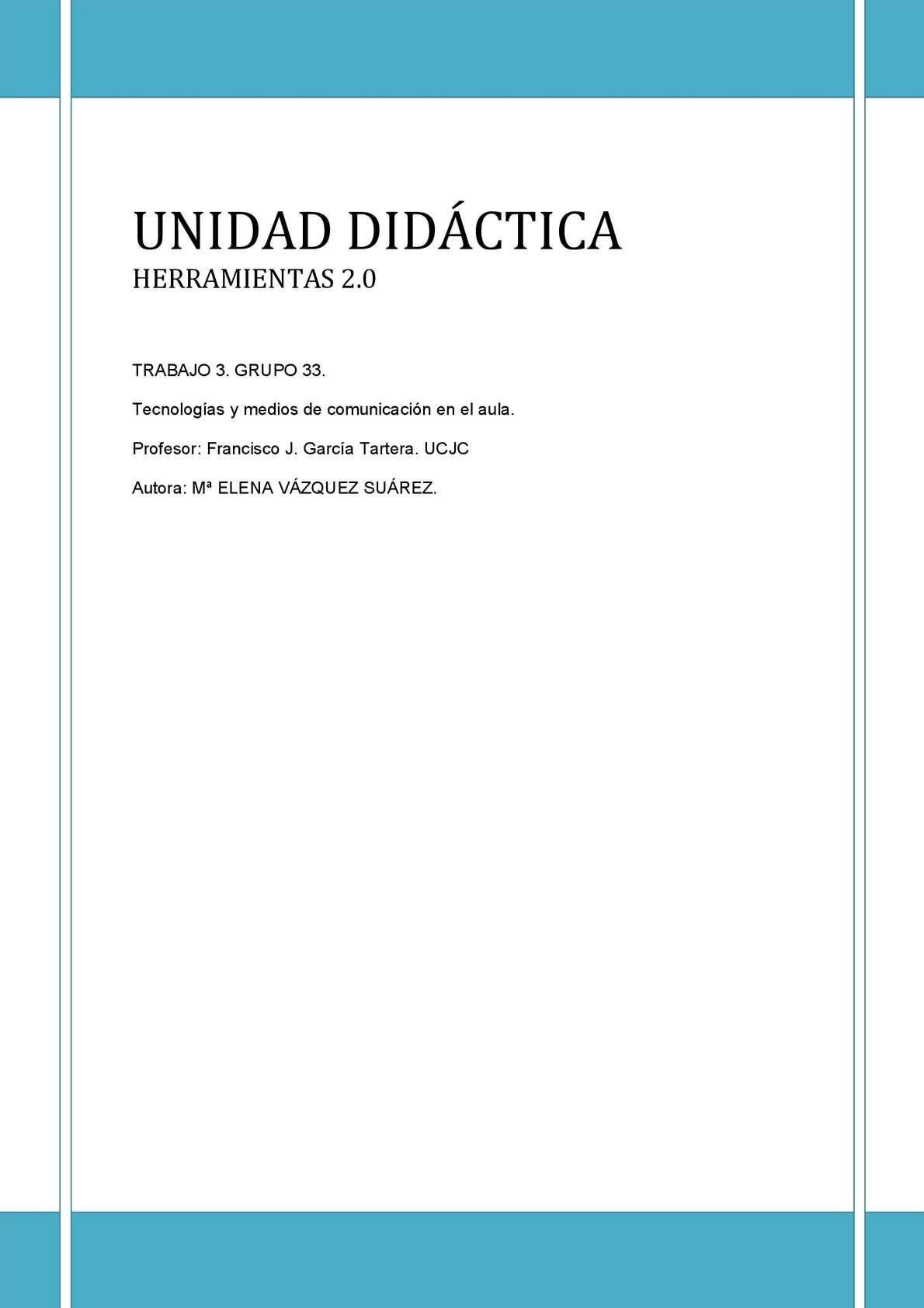 Unidad Didáctica Herramientas 2.0