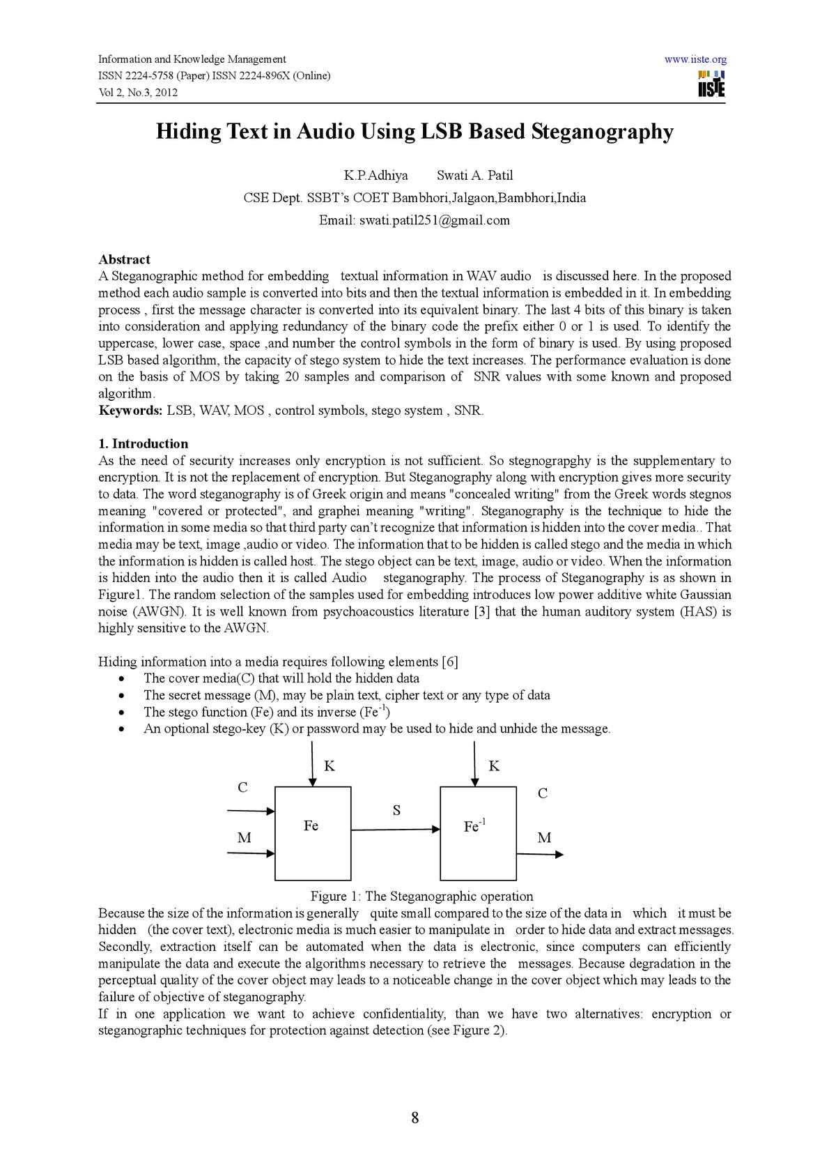 Calaméo - Hiding Text in Audio Using LSB Based Steganography
