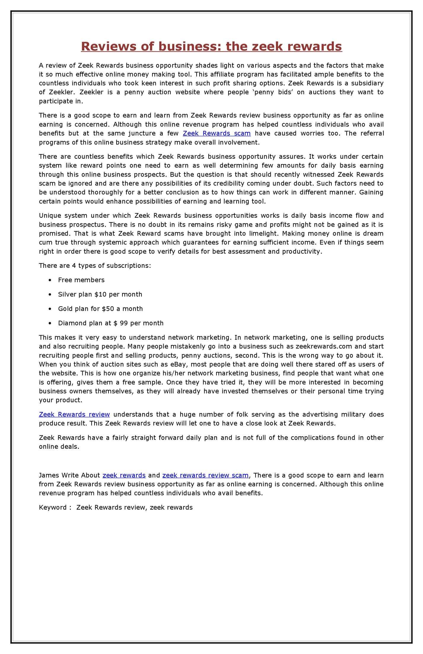 Calameo Reviews Of Business The Zeek Rewards