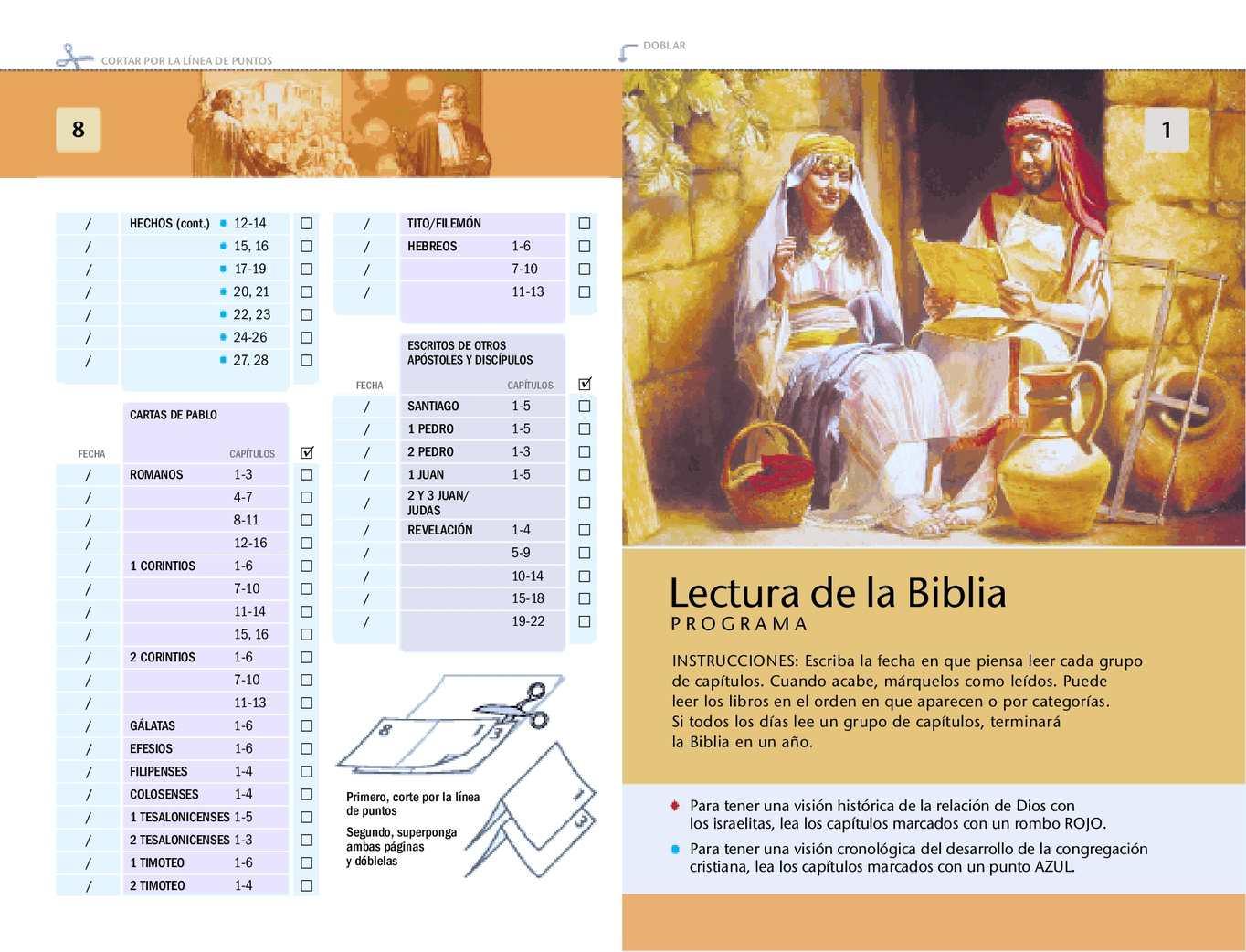 programa de lectura de la biblia