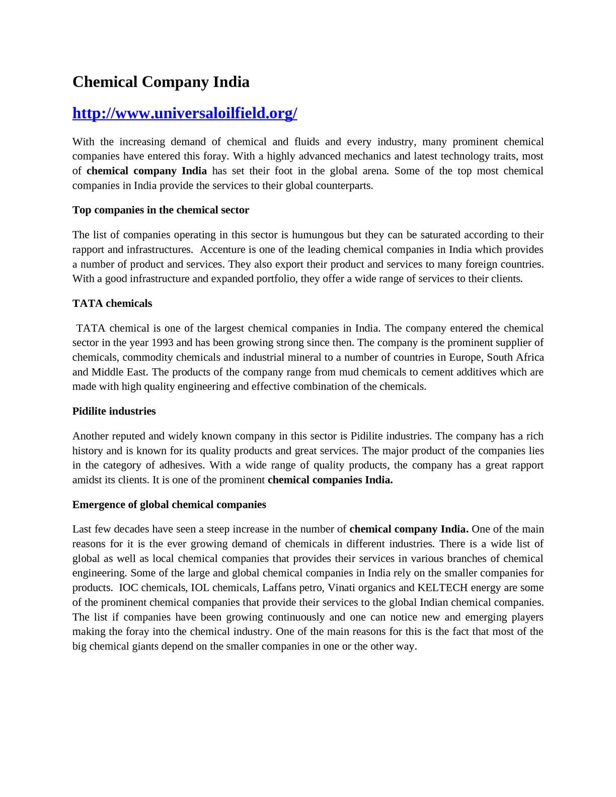 Calaméo - Chemical Company India