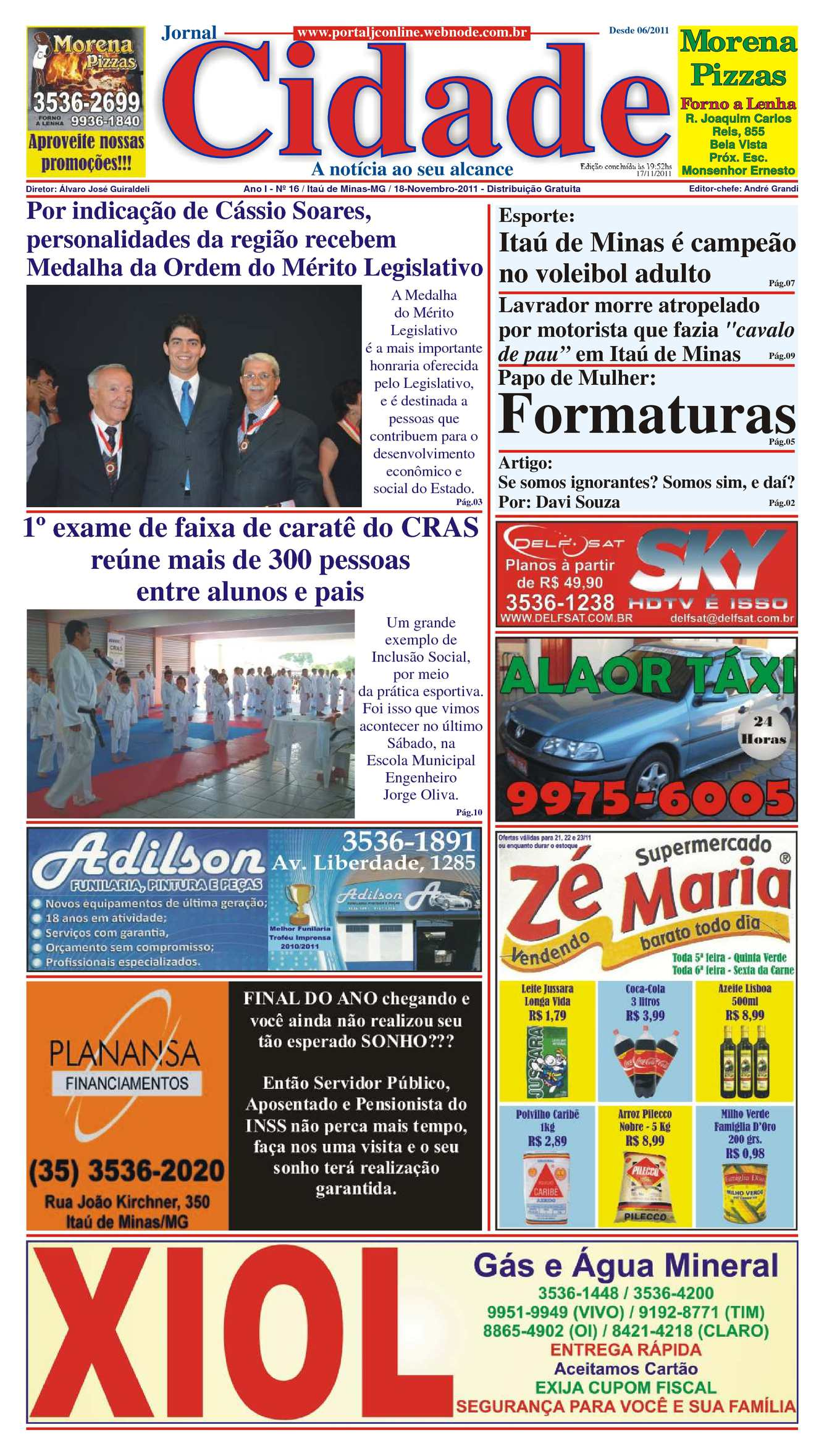 Calaméo - Jornal Cidade de Itaú de Minas - Edição nº 16 de