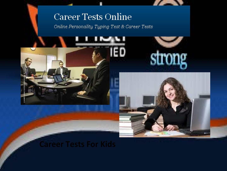 Calaméo - Career Tests For Kids