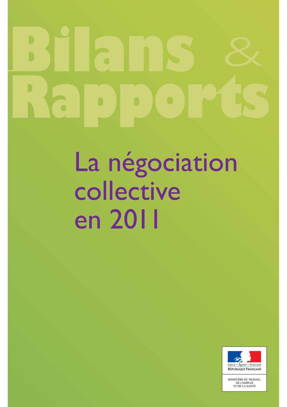 Calameo La Negociation Collective En 2011