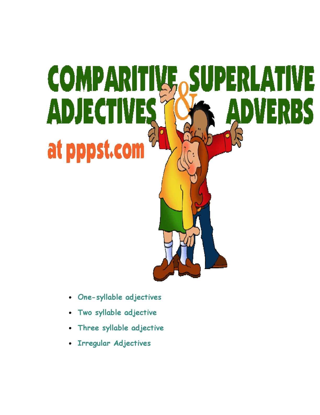 Calaméo - Comparative and Superlative Adjectives