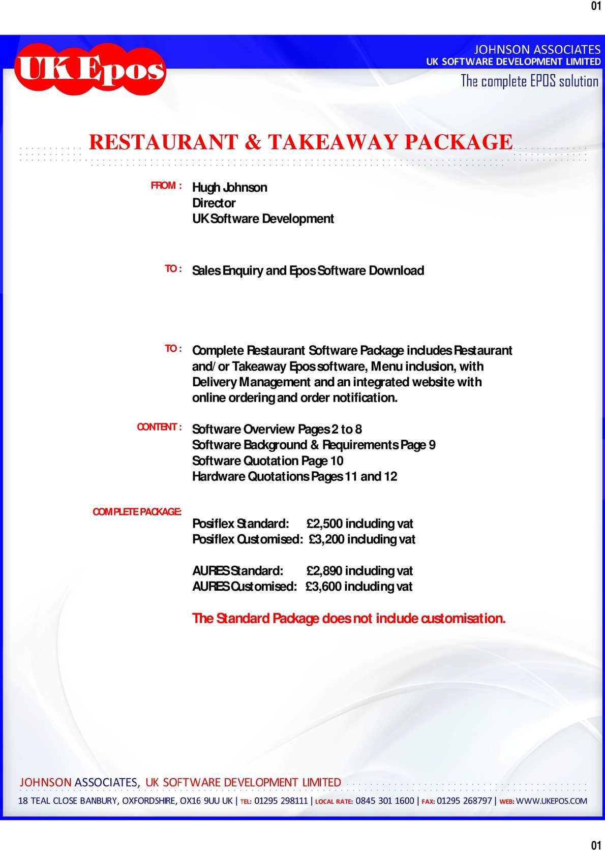 Calaméo - Restaurant software-quotation pdf