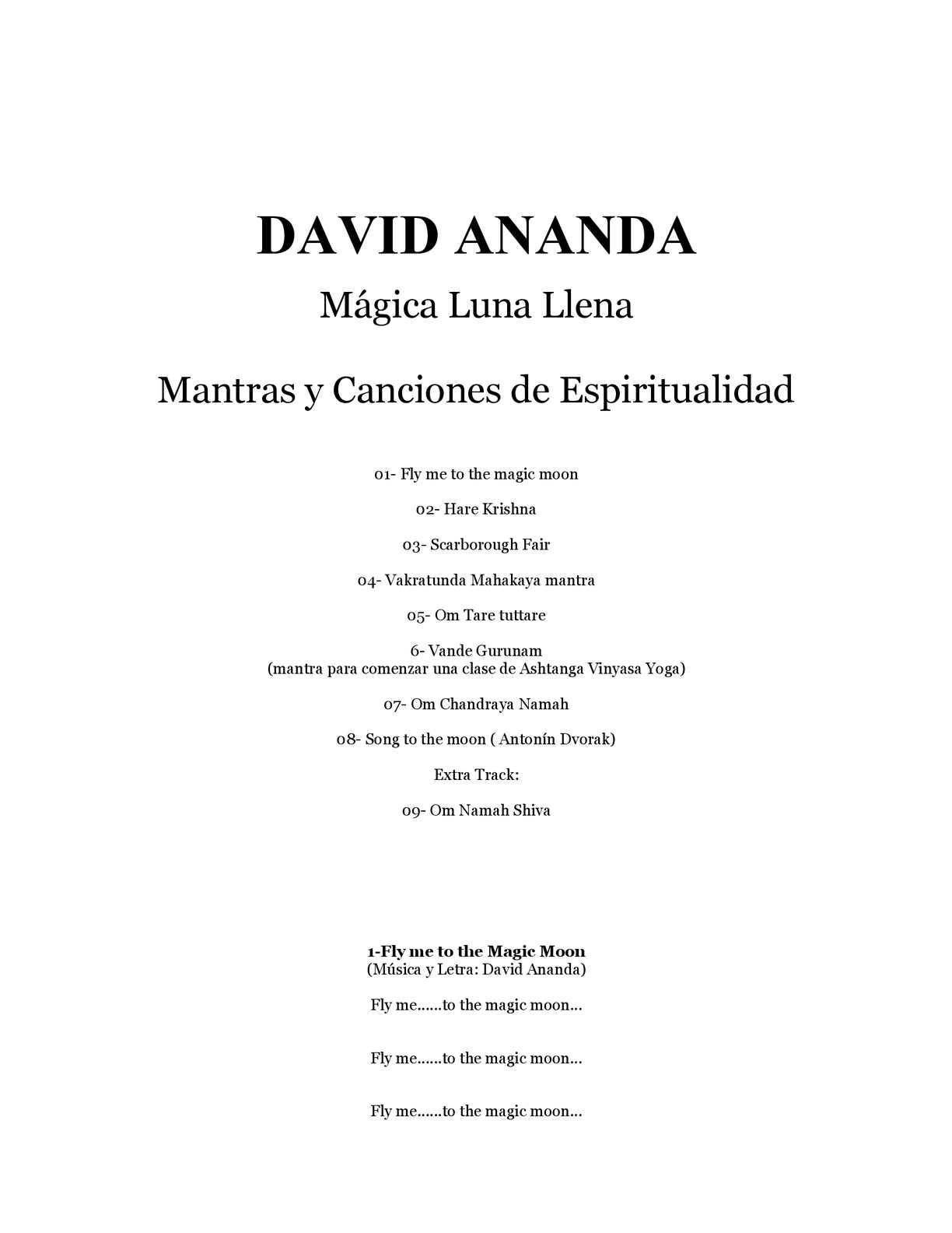 Calaméo David Ananda Mágica Luna Llena