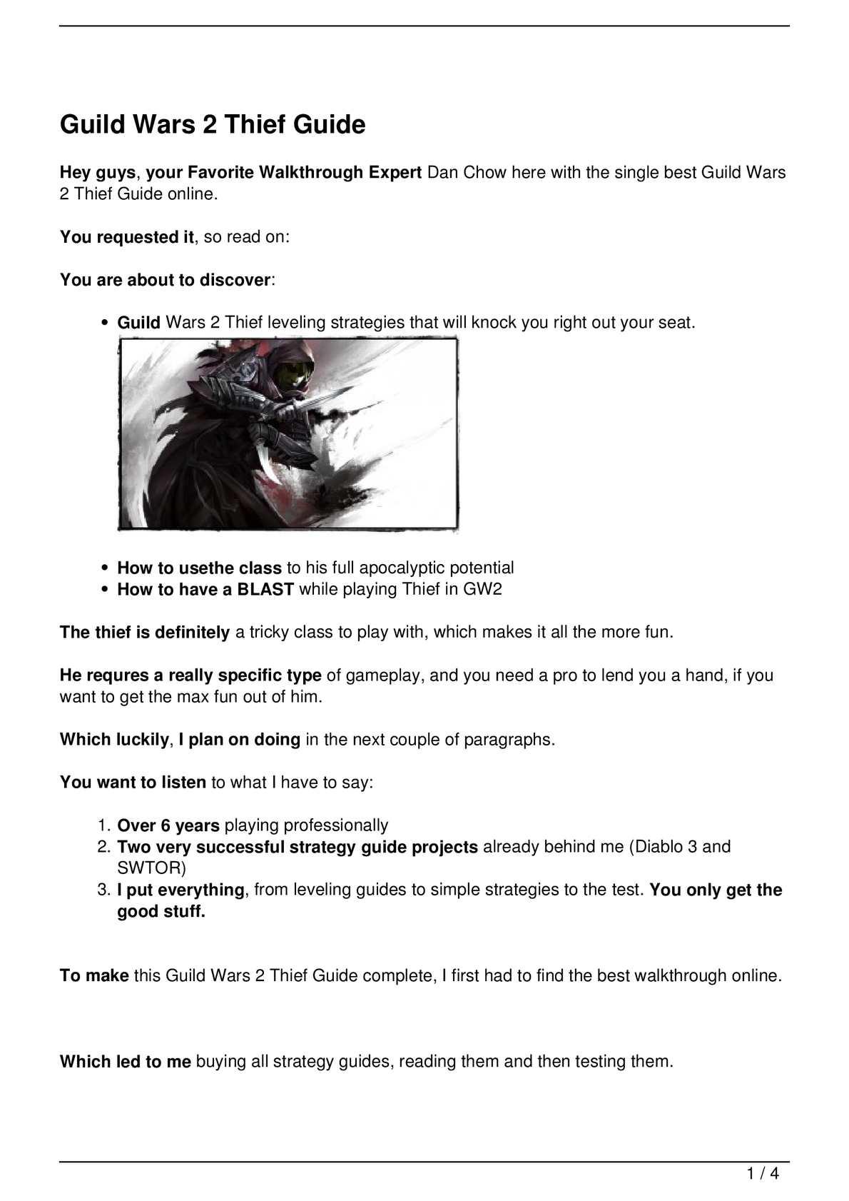 Calaméo - Guild Wars 2 Thief Guide