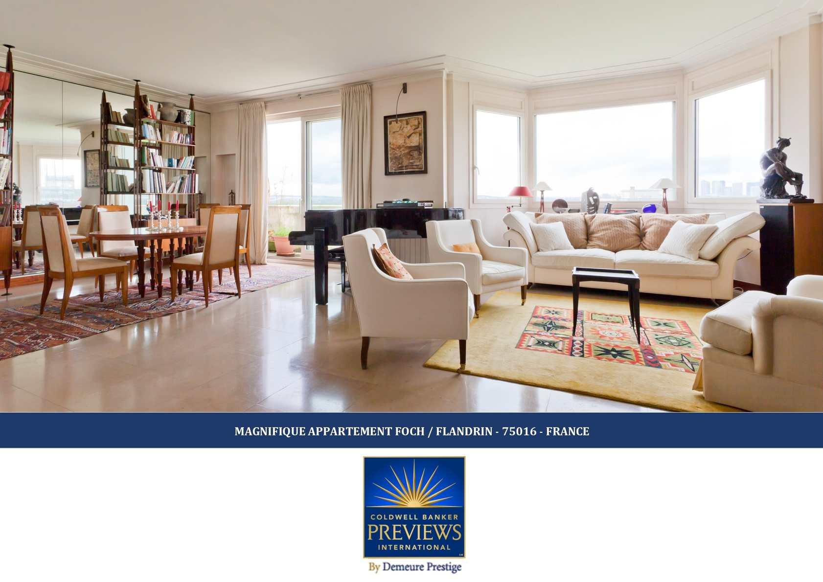 calam o collection coldwell banker previews international magnifique appartement foch. Black Bedroom Furniture Sets. Home Design Ideas