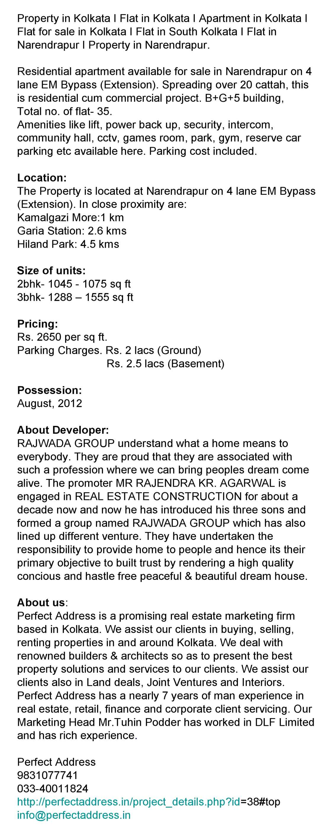 Calaméo - Residential Project on EM Bypass Extension at Narendrapur