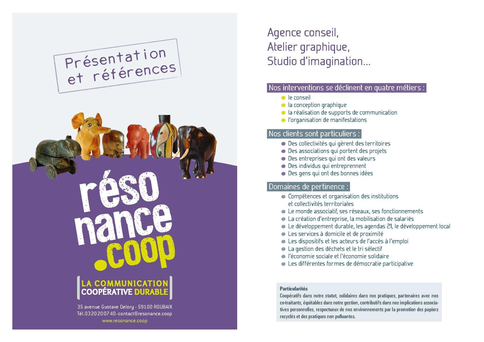 Agence De Communication Roubaix calaméo - résonance plaquette références 2012