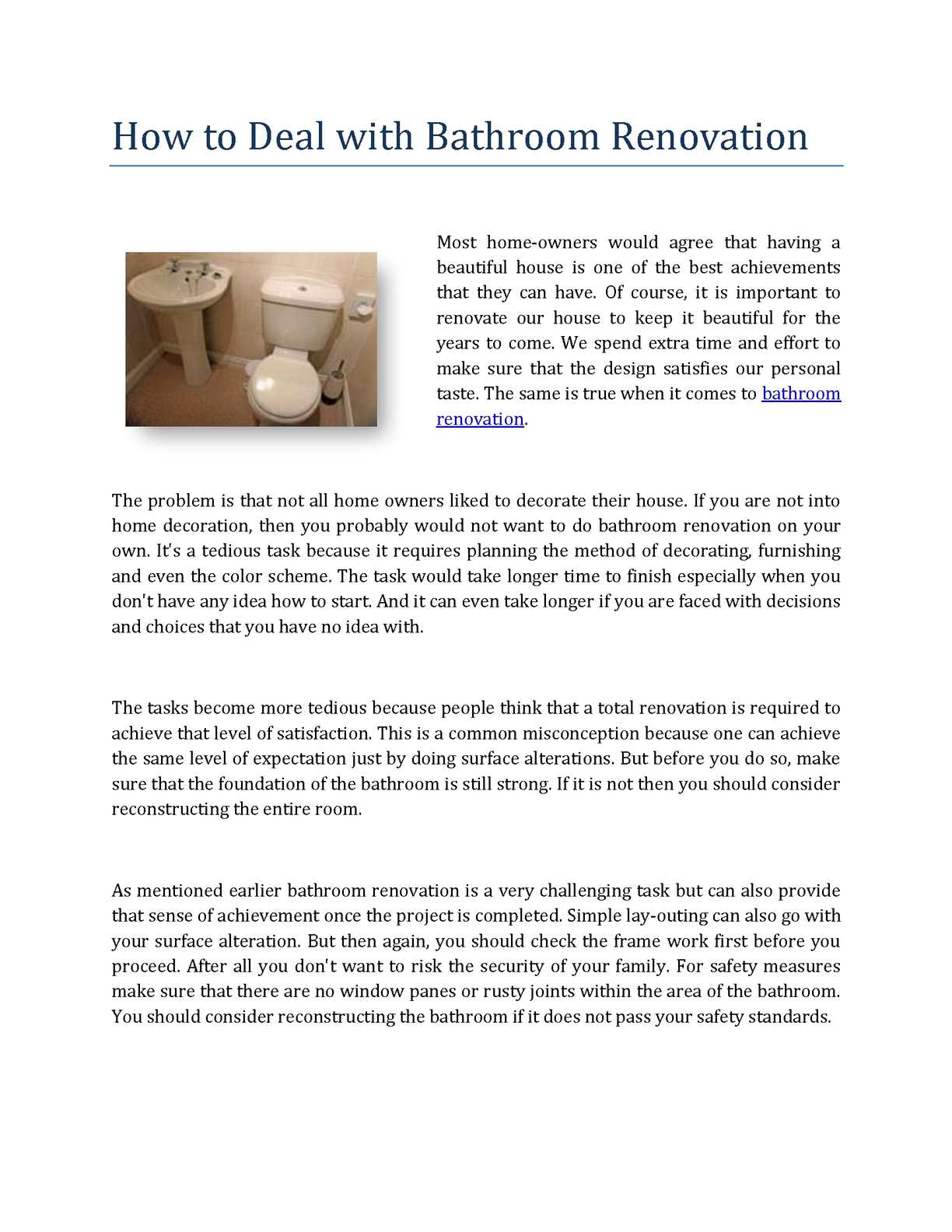 How To Deal With Bathroom Renovation, Bathroom Remodel Order Of Tasks