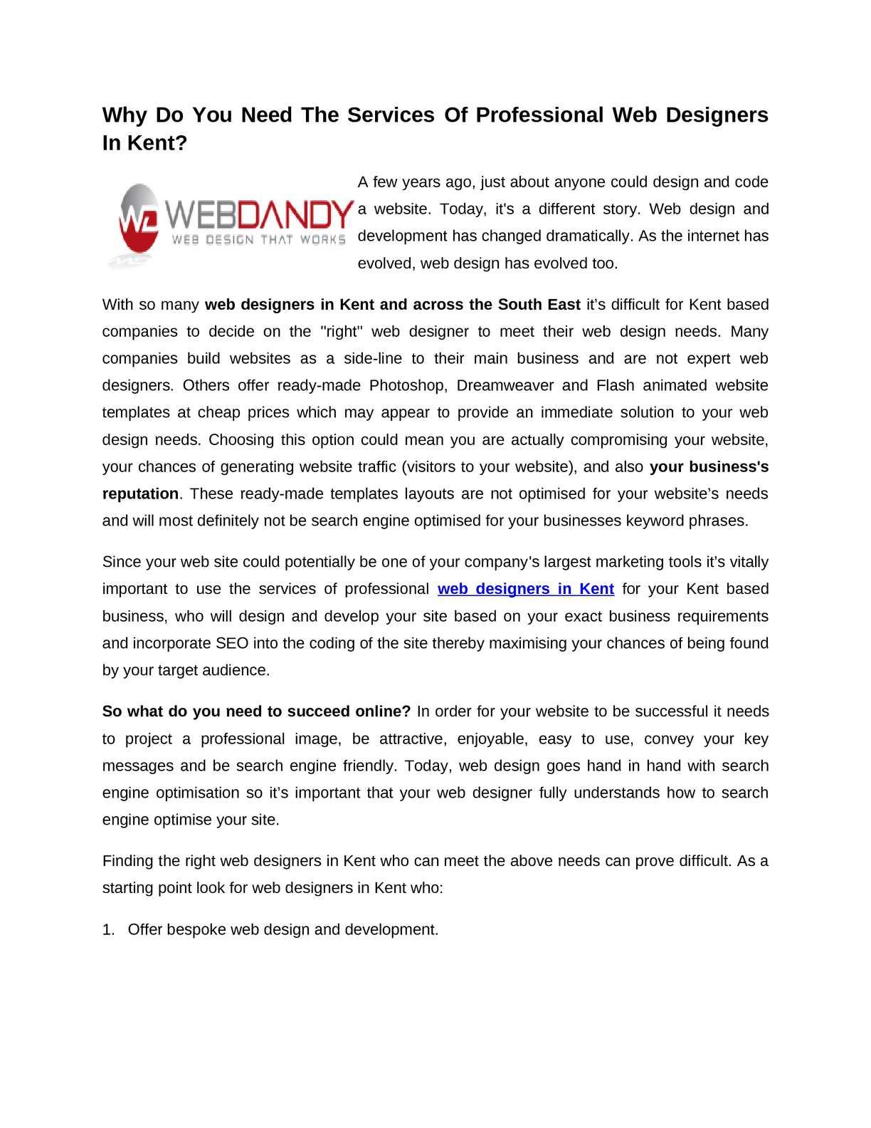 Calameo Web Designers In Kent