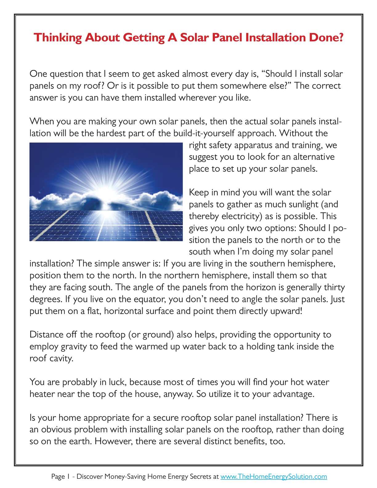 Calaméo - Are You Thinking About Getting A Solar Panel