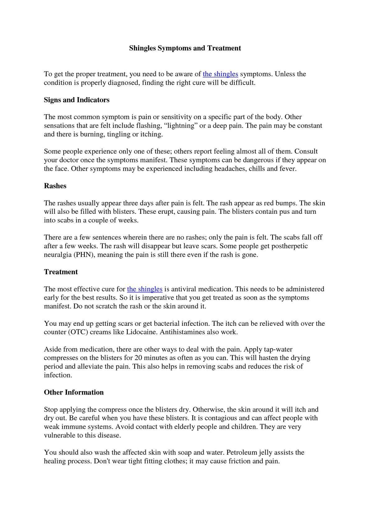 Calaméo - Symptoms of Shingles