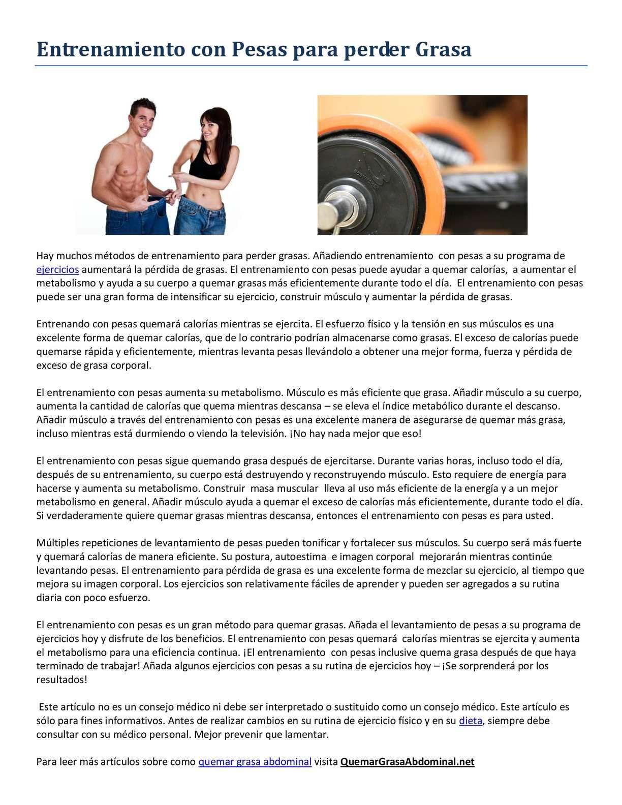 Entrenamientos para quemar grasa corporal