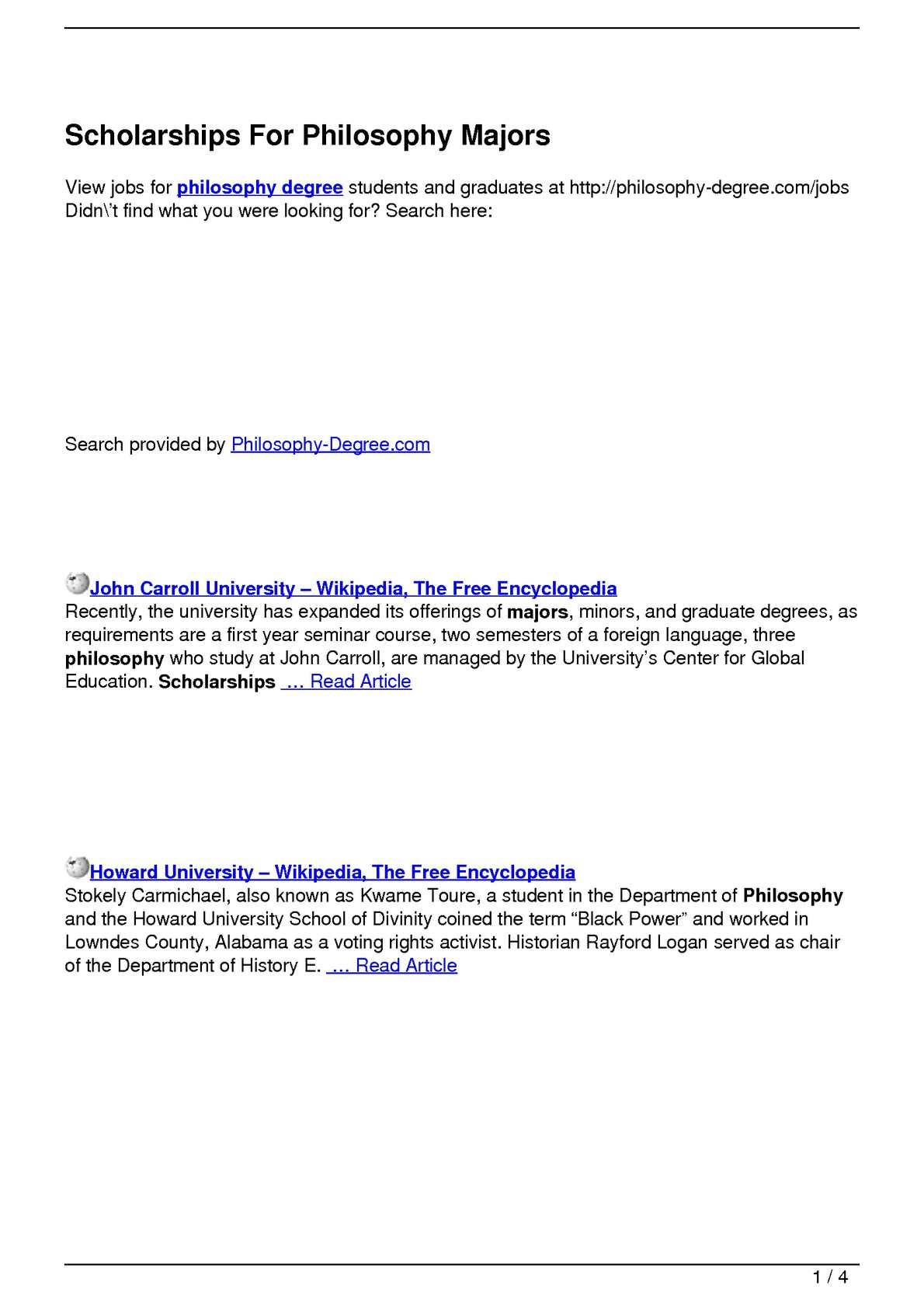 Calaméo - Scholarships For Philosophy Majors