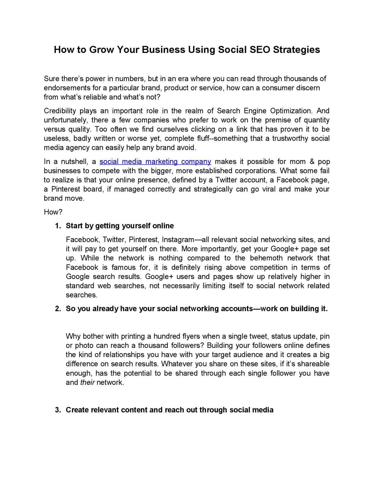 Calaméo - How to Grow Your Business Using Social SEO Strategies