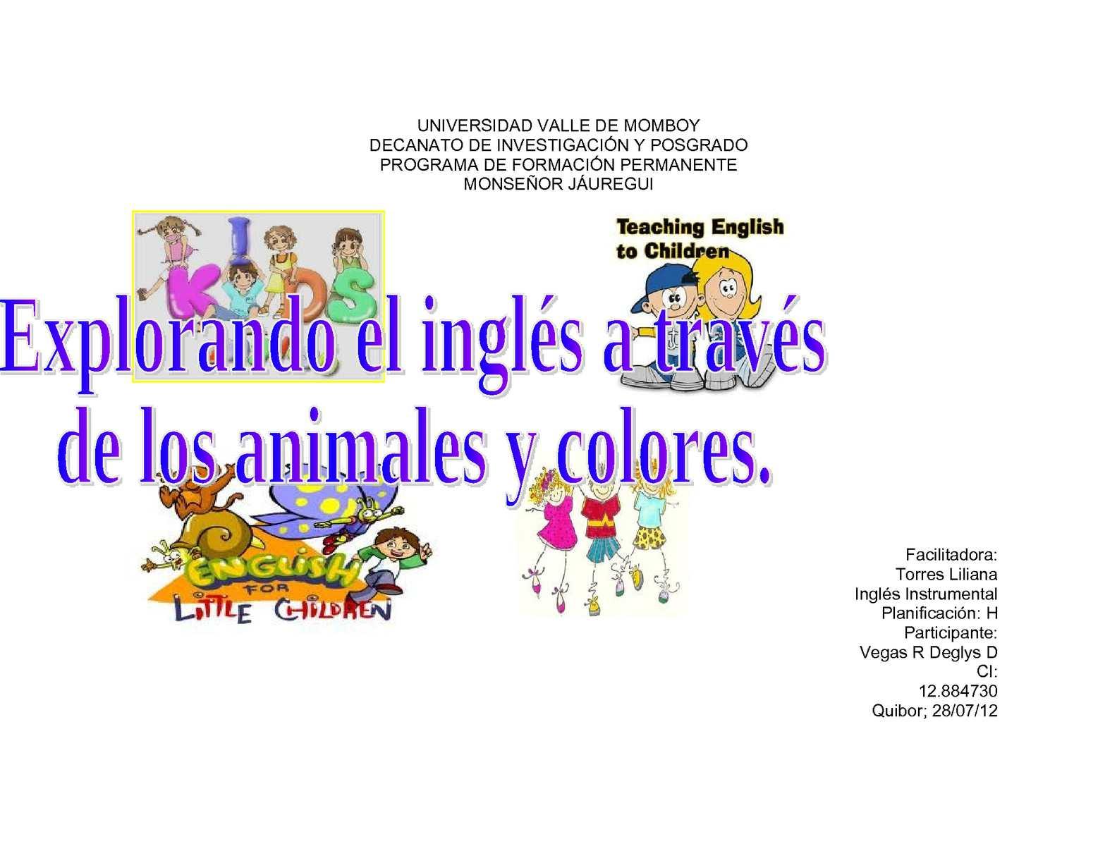 Calaméo Proyecto Pedagogico De Ingles Para Niños