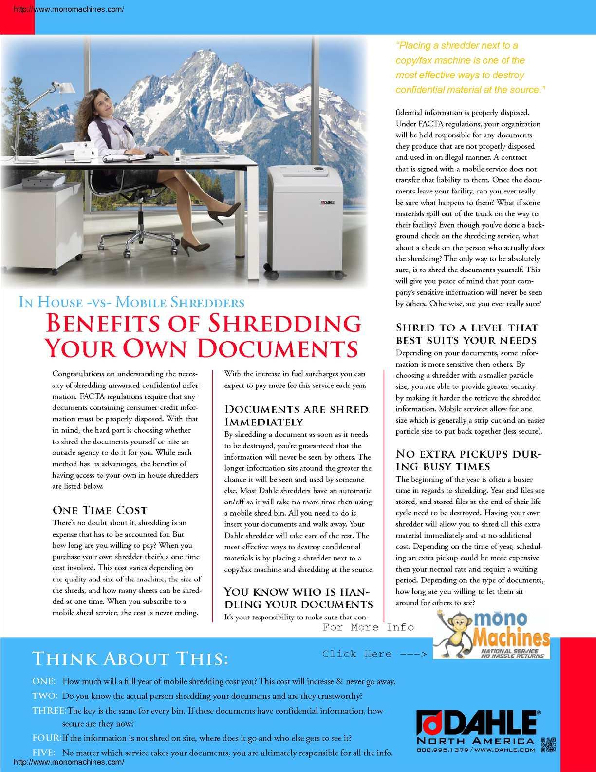 Calaméo - Dahle 40414 Shredder In-house Benefits