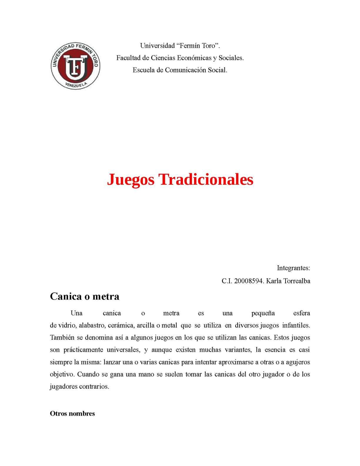 Calameo Juegos Tradicionales Karla Torrealba