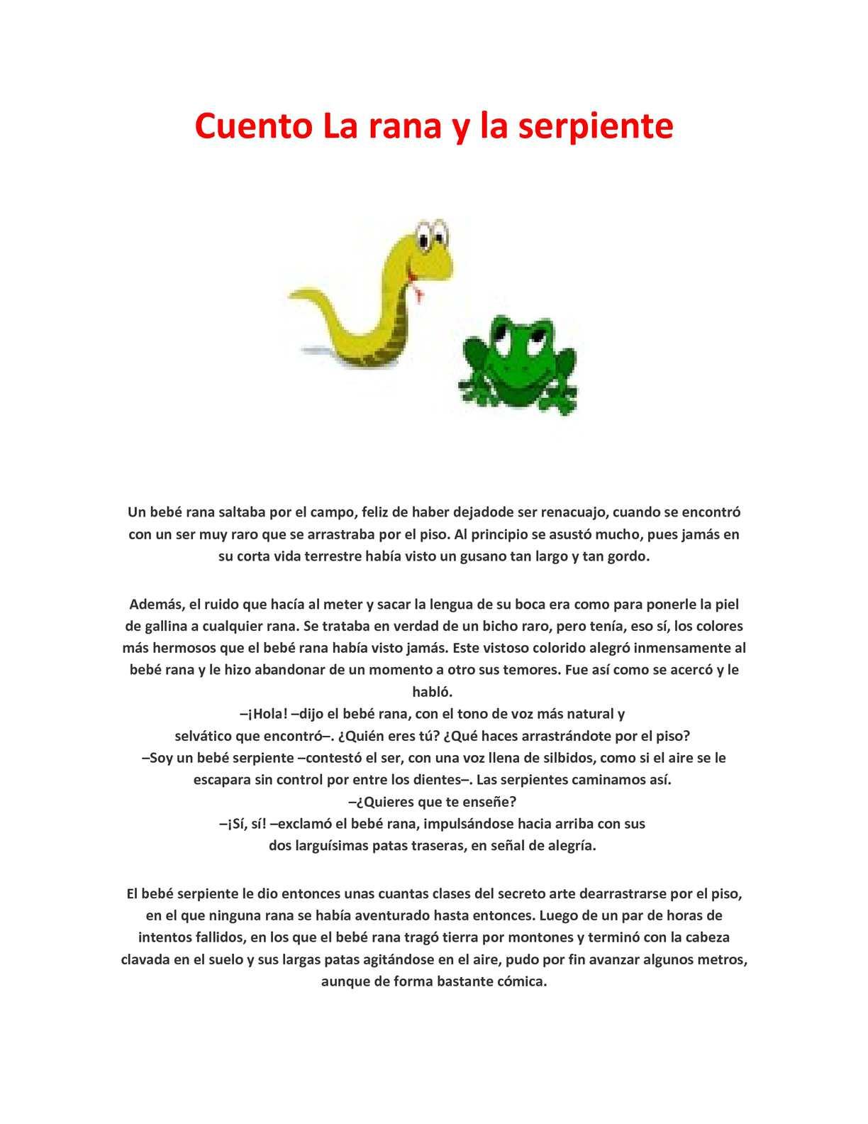 Calaméo - Cuento La rana y la serpiente