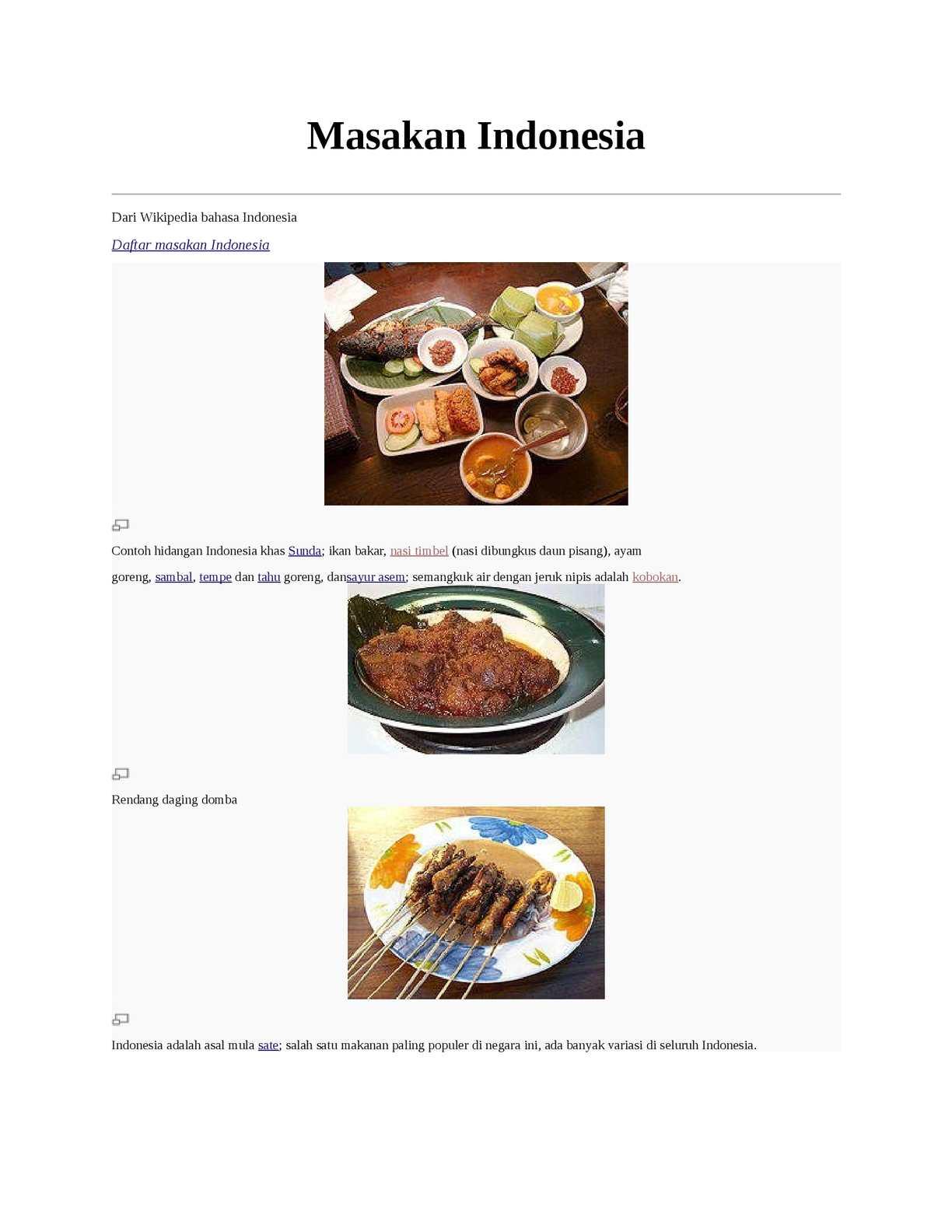 Calameo Sejarah Masakan Indonesia