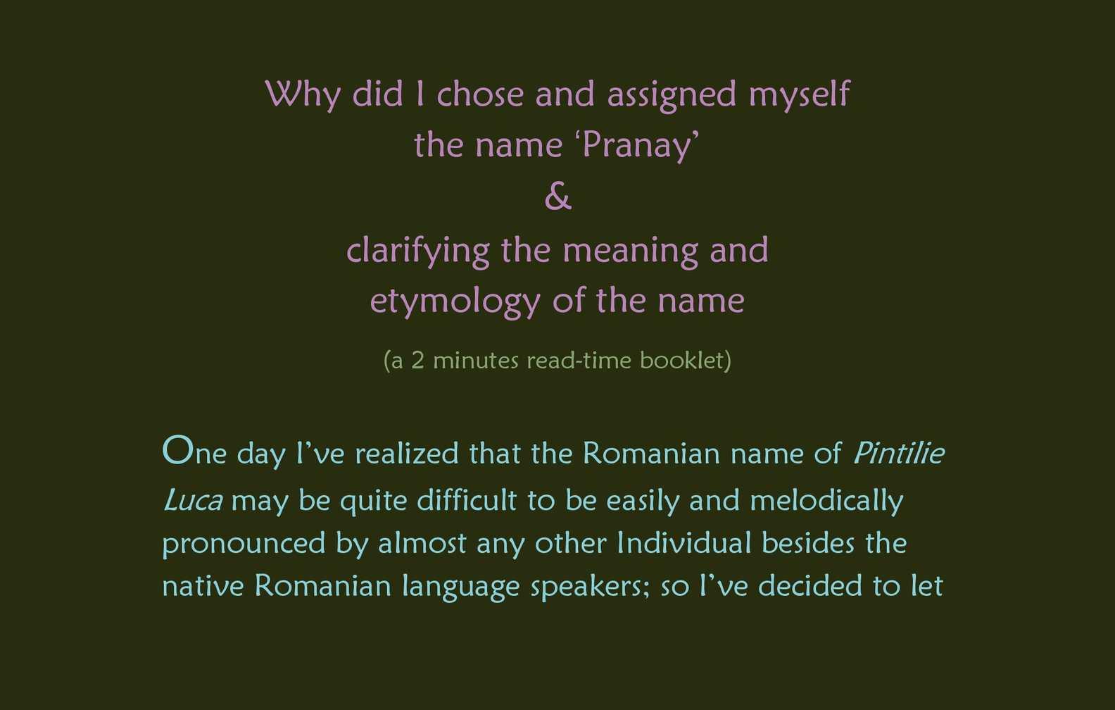 pranay name