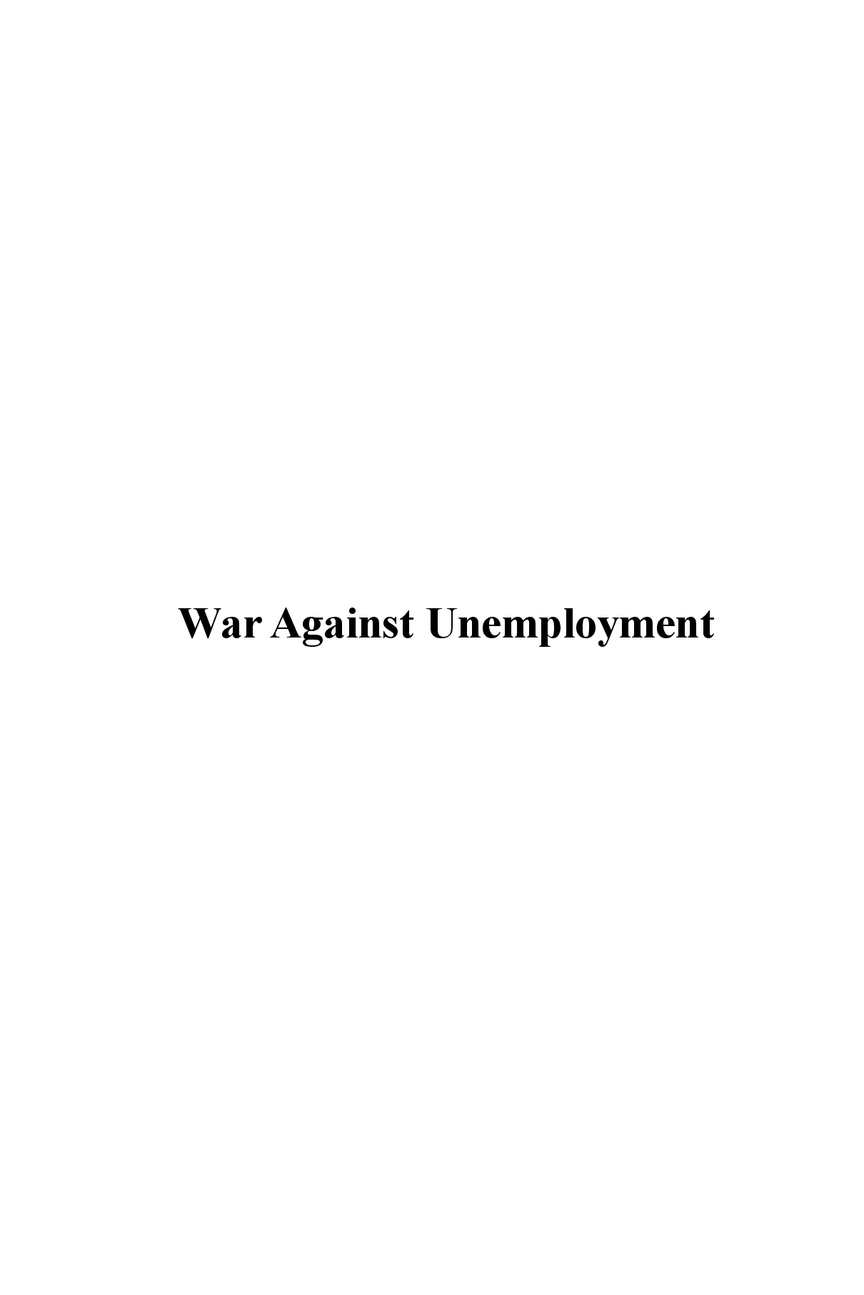 Calam O WAR AGINST UNEMPLOYMENT Battles You Can Win