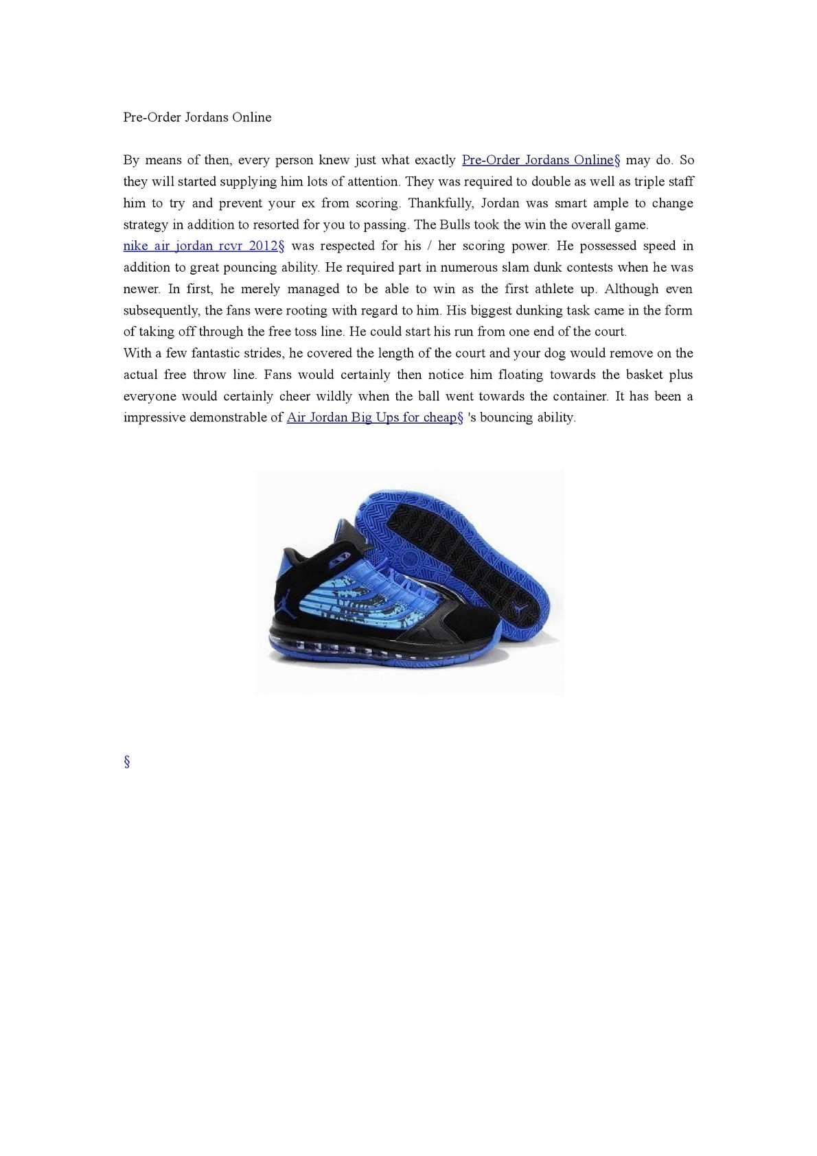 Calaméo - Pre-Order Jordans Online