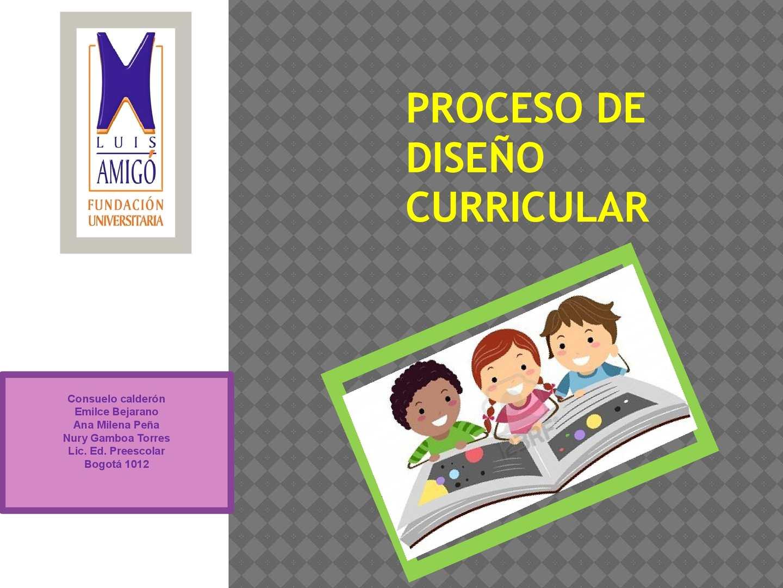 Calaméo Proceso De Diseño Curricular
