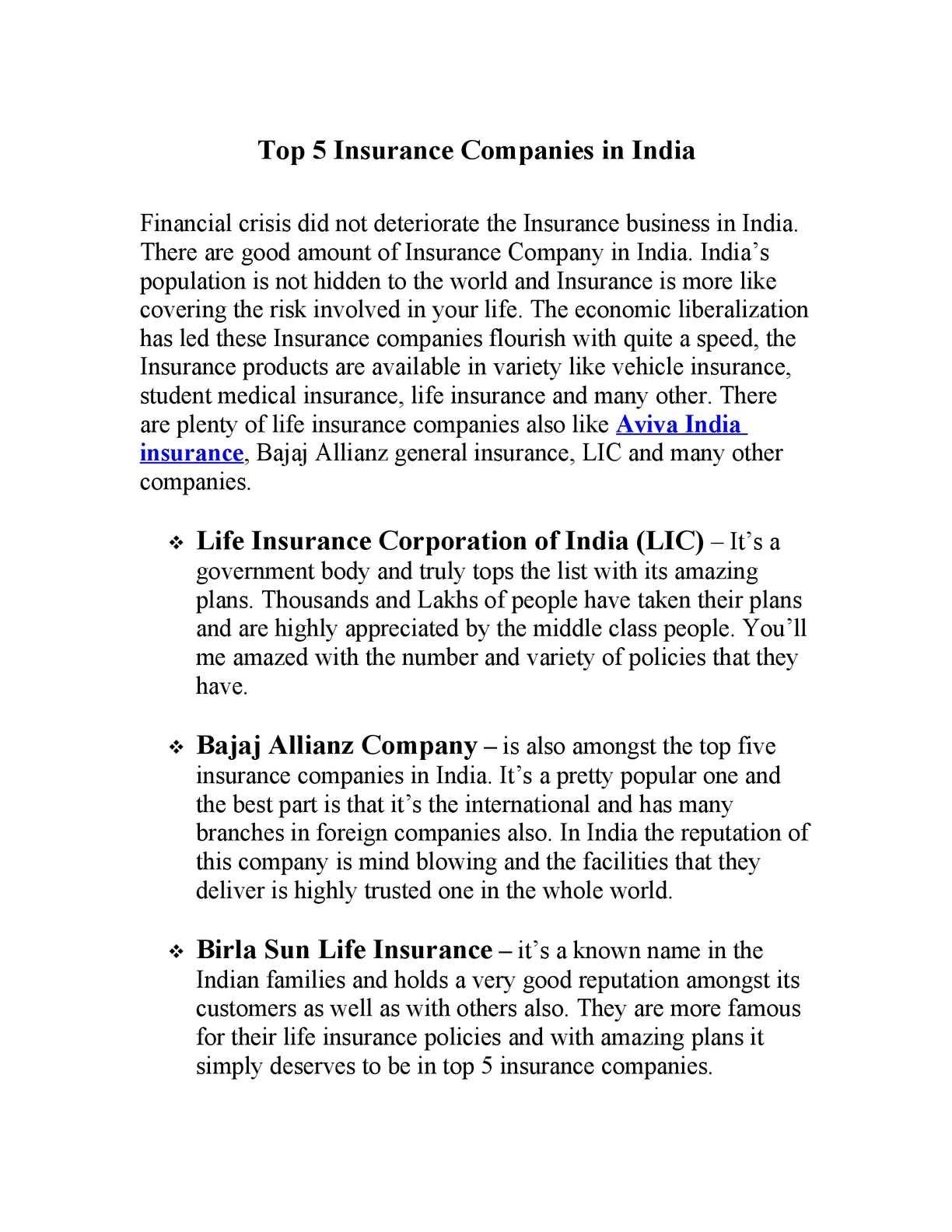 Top Ten Life Insurance Companies >> Calameo Top 5 Insurance Companies In India