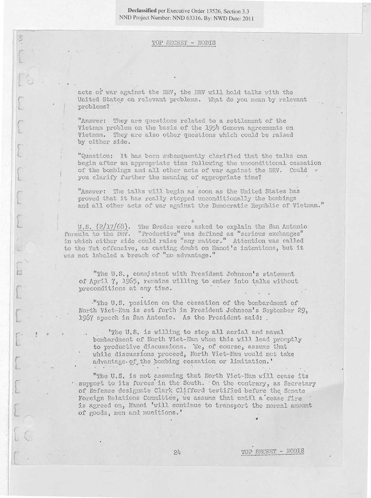 Pentagon Papers (48/48) : Settlement of the Conflict