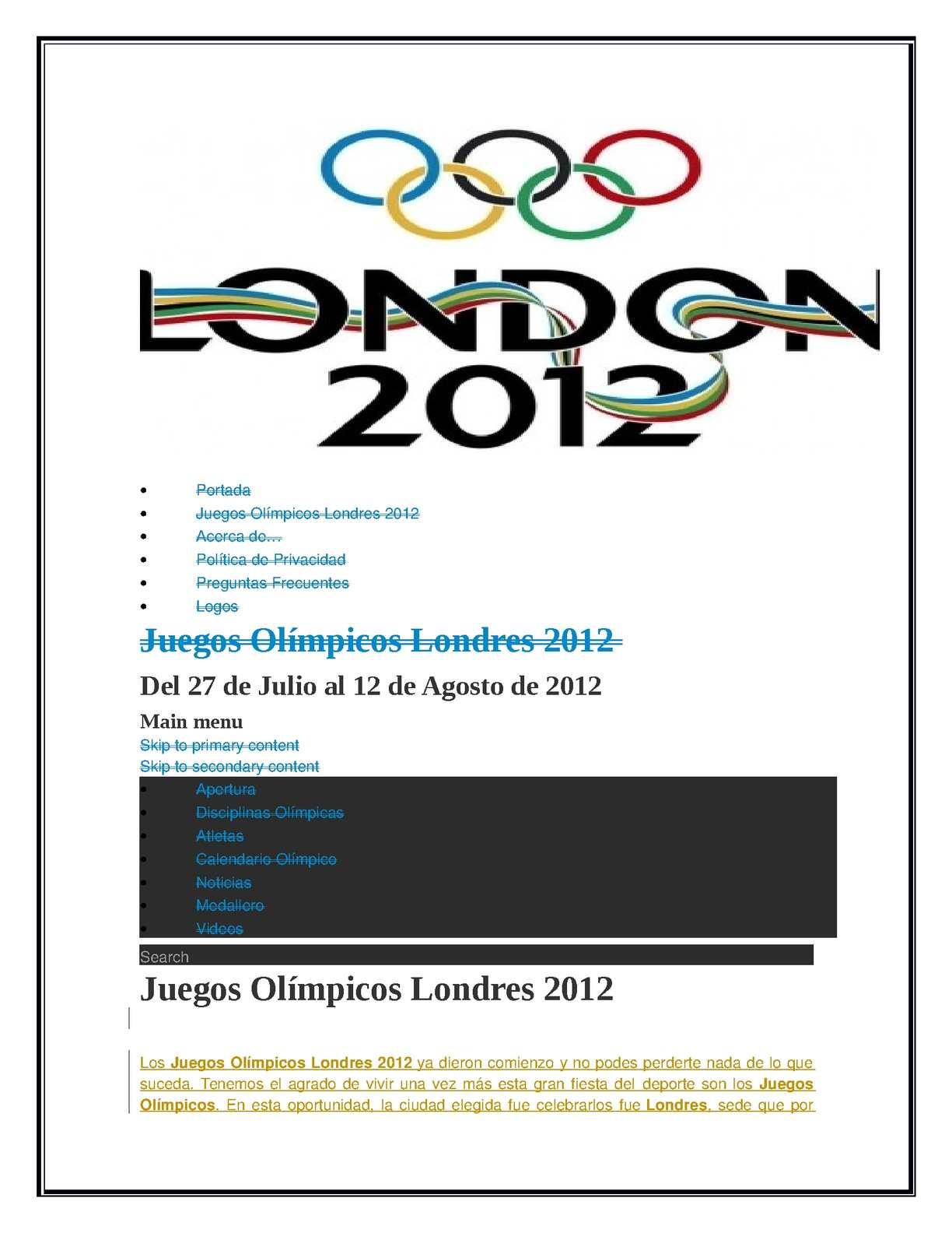 Calameo Juegos Olimpicos